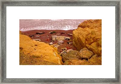 Moonstone Beach Framed Print by Sharon Costa