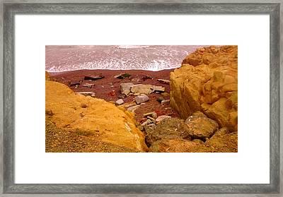 Moonstone Beach Framed Print by Sharon Costa