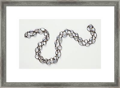 Moonstone Necklace Framed Print by Dorling Kindersley/uig