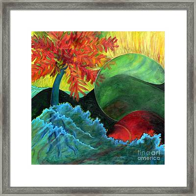 Framed Print featuring the painting Moonstorm by Elizabeth Fontaine-Barr
