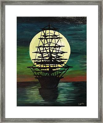 Moonstricken....lost In Thought Framed Print by Carol Hamby
