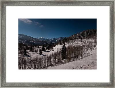 Framed Print featuring the photograph Moonstruck  by Eric Rundle