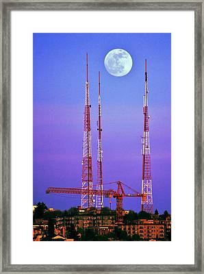Moontowers Framed Print