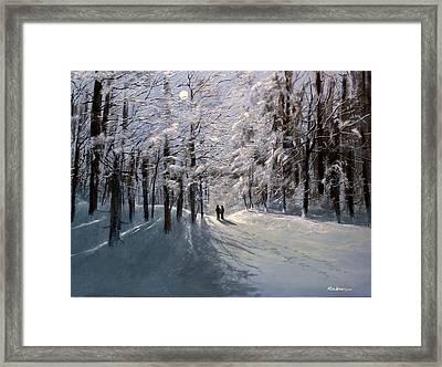 Moonwalk Framed Print by Ken Ahlering