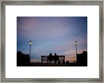 Moonwalk Sunset Framed Print by Chris Moore
