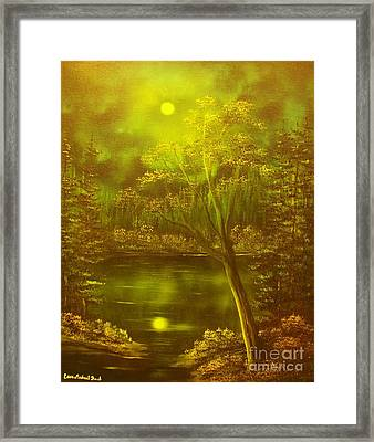 Moony Waters- Original Sold - Buy Giclee Print Nr 37 Of Limited Edition Of 40 Prints Mited Edprints  Framed Print