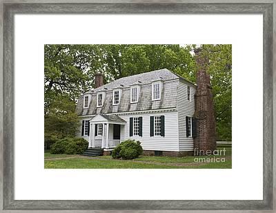 Moore House Yorktown Framed Print by Teresa Mucha