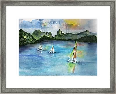 Moorea French Polynesia Island Framed Print by Sharon Mick