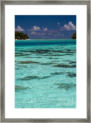 Moorea Lagoon No 10 Framed Print by David Smith