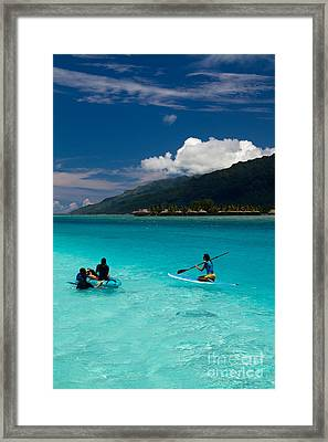 Moorea Lagoon No 11 Framed Print by David Smith