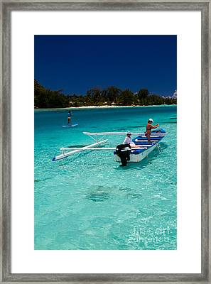 Moorea Lagoon No 12 Framed Print by David Smith
