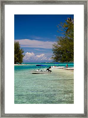 Moorea Lagoon No 14 Framed Print by David Smith