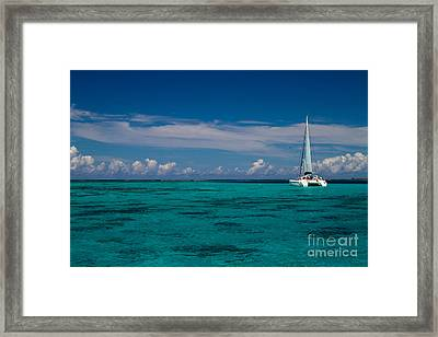 Moorea Lagoon No 16 Framed Print by David Smith