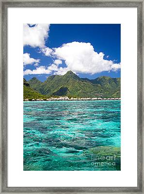 Moorea Lagoon No 2 Framed Print by David Smith