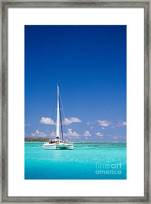 Moorea Lagoon No 4 Framed Print by David Smith
