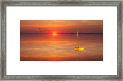Moored At Sunset Framed Print by Michael Petrizzo