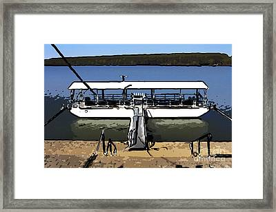 Moored Boat Framed Print by Milan Karadzic