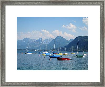 Framed Print featuring the photograph Moored Boats by Pema Hou