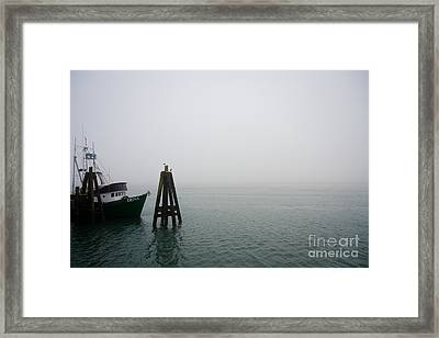 Framed Print featuring the photograph Moored by CML Brown