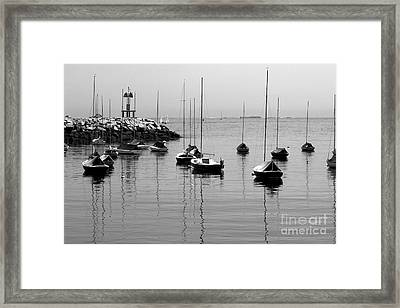 Moored Framed Print by Eunice Miller