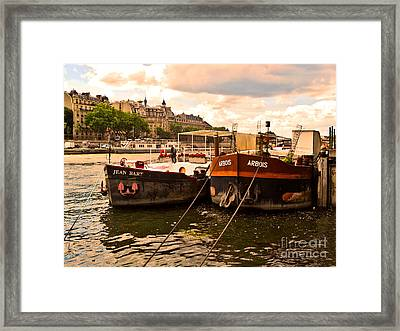Moored Framed Print by Lauren Leigh Hunter Fine Art Photography
