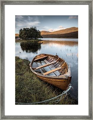 Moored On Loch Awe Framed Print by Dave Bowman