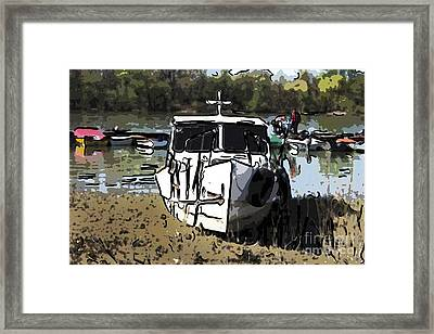 Moored Small Boat Framed Print by Milan Karadzic