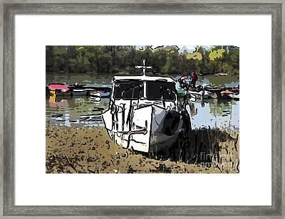 Moored Small Boat Framed Print