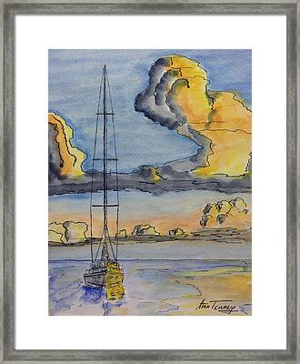 Moored Framed Print by Stan Tenney