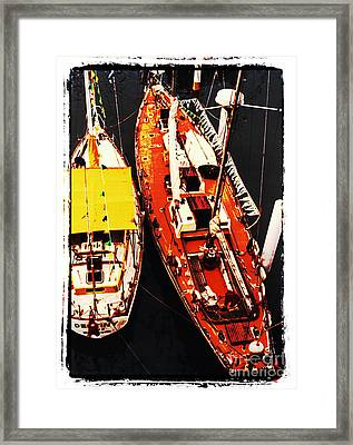 Moored Yachts Framed Print