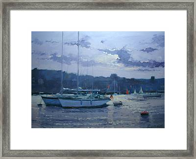 Moored Yachts Framed Print by Jennifer Wright