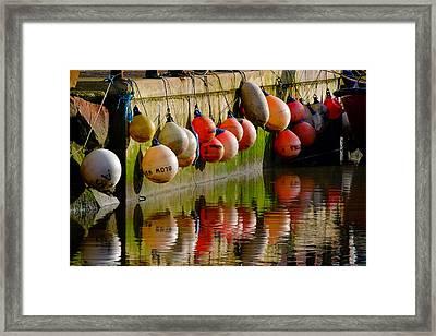 Mooring Buoys Framed Print