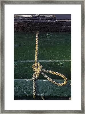 Framed Print featuring the photograph Mooring Hitch by Marty Saccone