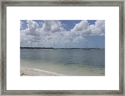 Mooring Sailboats Framed Print