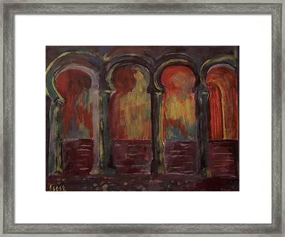 Moorish Arches II Framed Print by Oscar Penalber