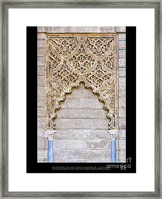 Moorish Decorative Art Framed Print by Heiko Koehrer-Wagner