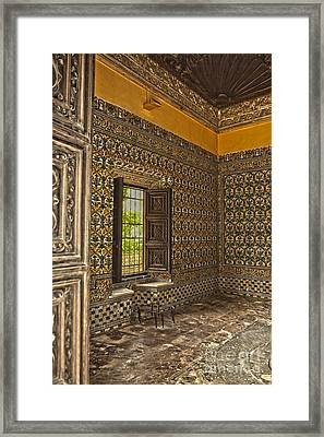 Moorish Room Inside The Alcazar Reales Framed Print by Patricia Hofmeester