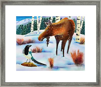 Moose And Mappie Framed Print