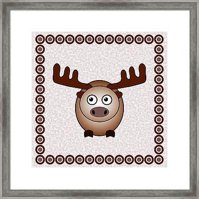 Moose - Animals - Art For Kids Framed Print by Anastasiya Malakhova