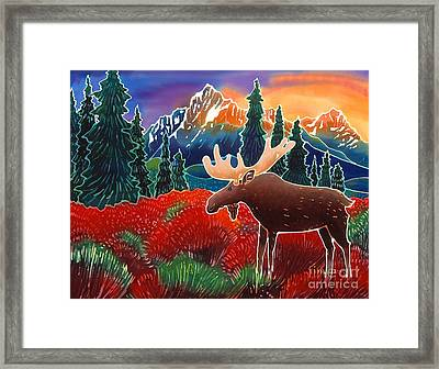 Moose In The Meadow Framed Print by Harriet Peck Taylor
