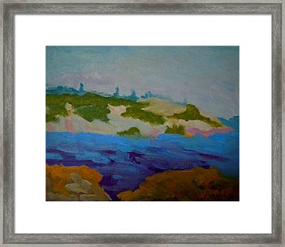 Framed Print featuring the painting Moose Island - Schoodic Peninsula by Francine Frank