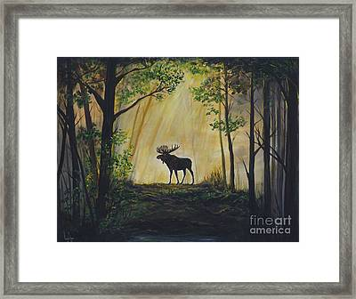 Moose Magnificent Framed Print