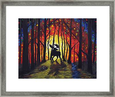Moose Mountain Framed Print