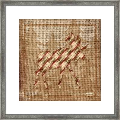Moose Plaid Framed Print by Jennifer Pugh