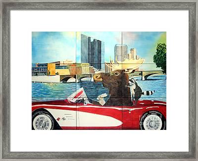 Moose Rapids Il Framed Print
