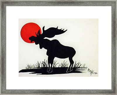 Moose Stands Tall Framed Print