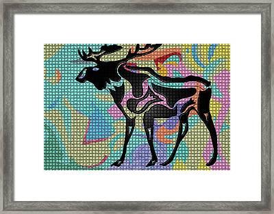 Moose Tracks Framed Print by Robert Margetts