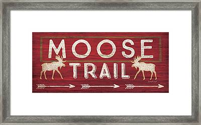 Moose Trail Framed Print by Jennifer Pugh