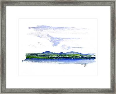 Moosehead Lake Framed Print