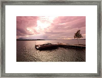 Moosehead Lake Framed Print by Ryan Hord